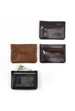 Minga Slim Profile Leather Wallet, Assorted, Peru