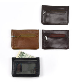Minga Slim Profile Leather  Wallet, assorted. Peru