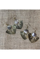Astral Point Earrings, shell, India