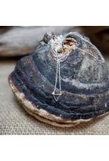Fair Anita Delicate Triangle Necklace- Sterling Silver, India