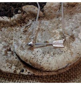 Ten Thousand Villages Silver Arrow Necklace