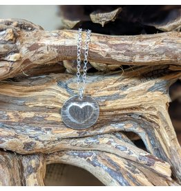 Ten Thousand Villages Sterling Silver Heart Necklace