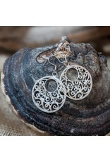 Ten Thousand Villages Silver Plated Filigree Earrings, Indonesia
