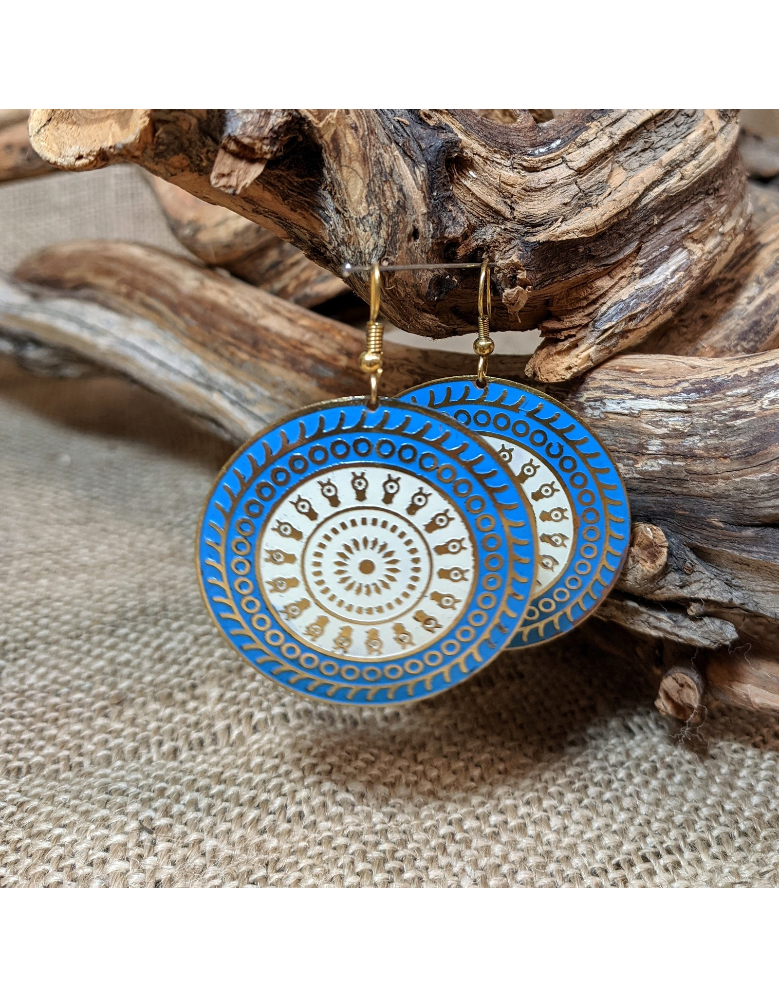Ten Thousand Villages Double Circle Drop Earrings, India