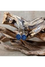 Ten Thousand Villages Sodalite Swirl Earrings, Peru