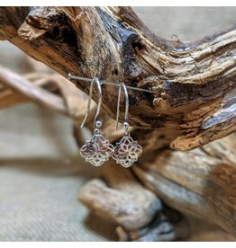 Ten Thousand Villages Sterling Silver Filigree Drop Earrings