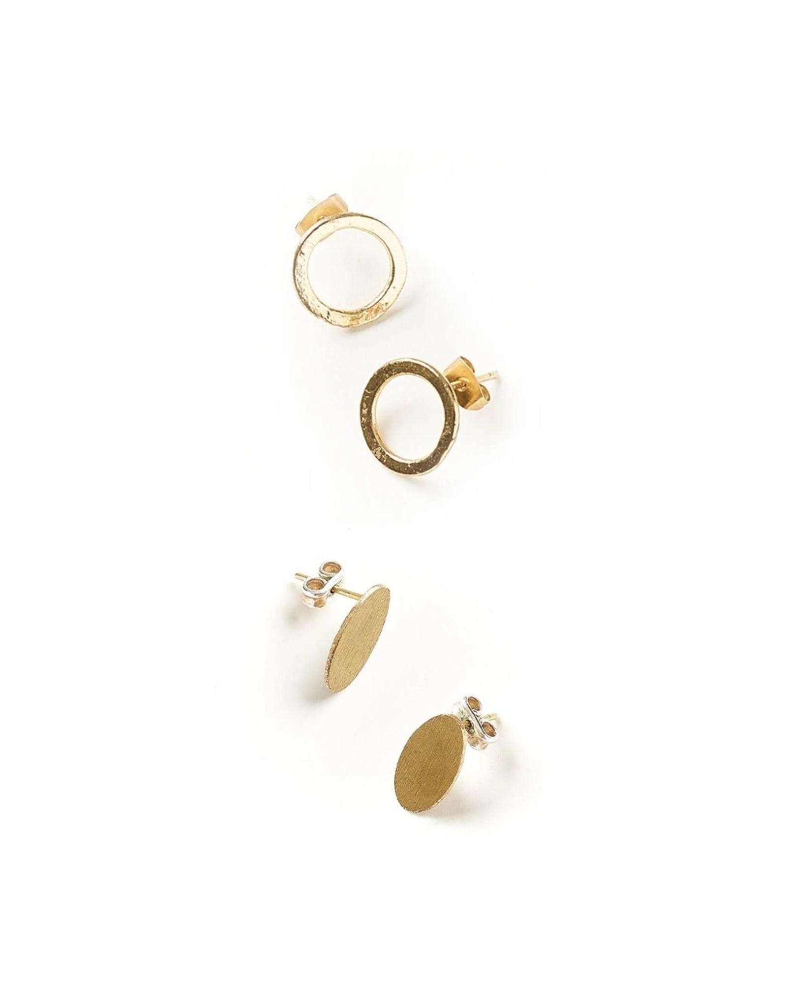 Matr Boomie Diya Earrings- Circle & Oval set, India