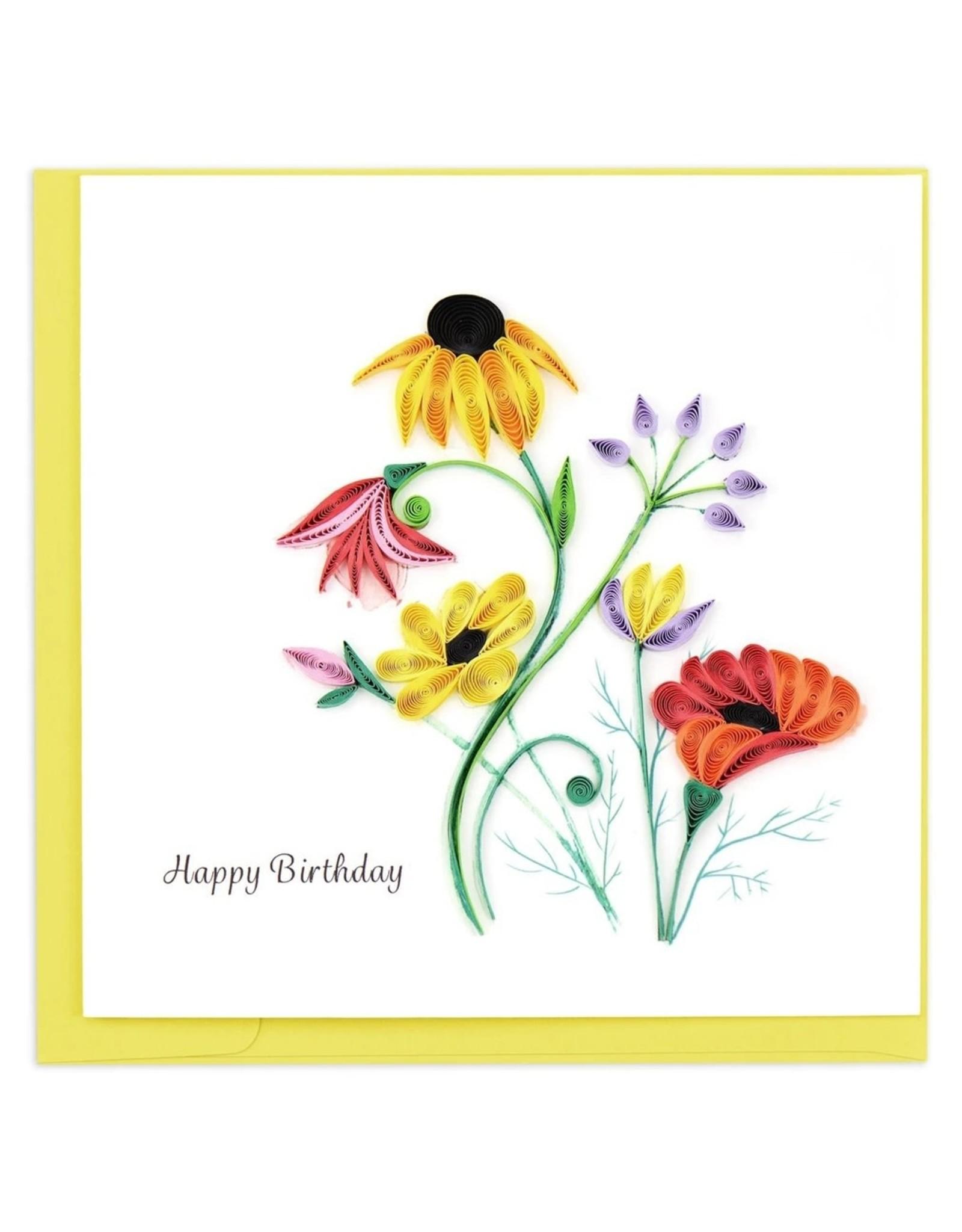 quillingcard Wildflower Birthday Quilled Greeting Card, Vietnam