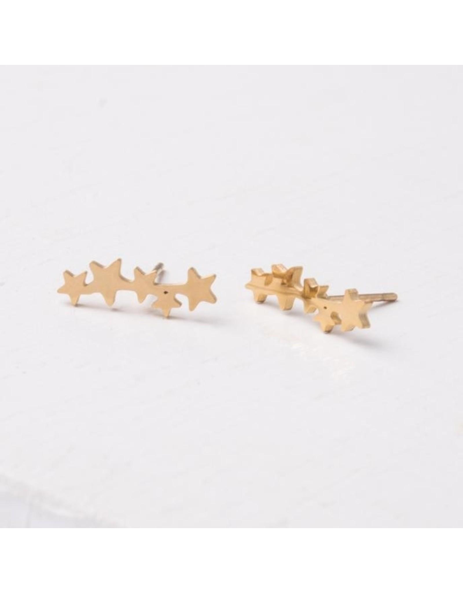 Starfish Project Beatrix Gold Star Crawler Earrings, China