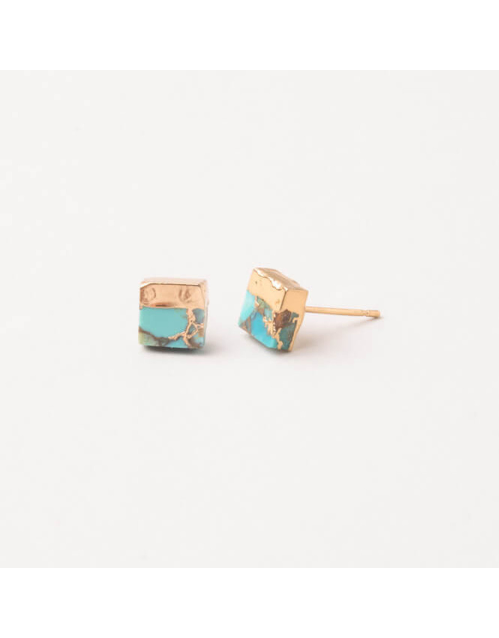 Starfish Project Lorena Square Turquoise Stud Earrings, China