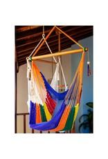 Women of the Cloud Forest Handwoven Rainbow Hammock Chair, Nicaragua