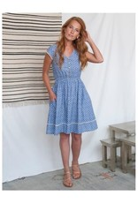 Dotted Trim Chambray Dress, India