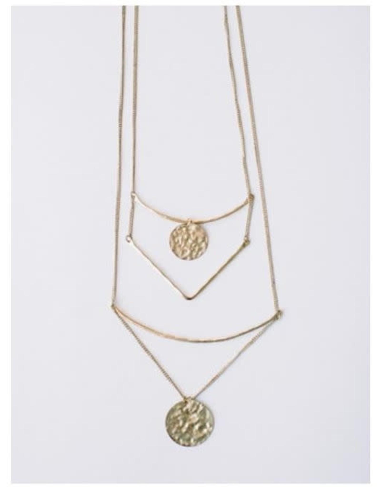 Tiered Sun Drop Necklace, India