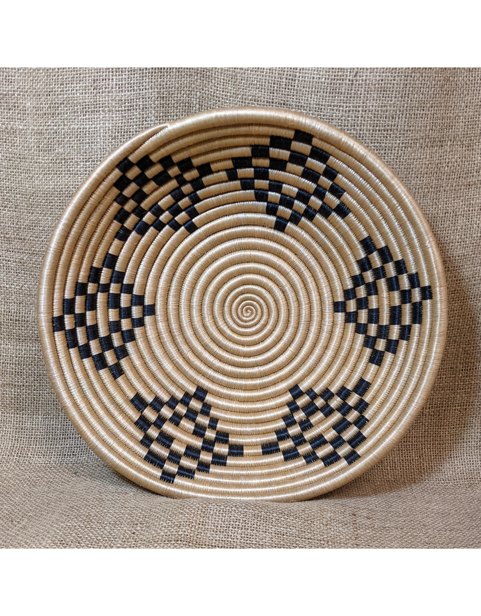"Soko Home 12"" Bariku Woven Bowl, Tea, Rwanda"