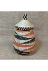 Soko Home Black & Rust Teardrop Peace Basket, Rwanda