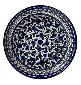 TTV USA Blue Floral Platter, Palestine
