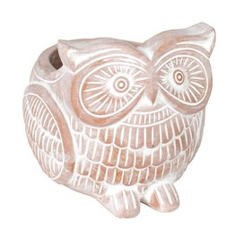 TTV USA Terracotta Owl Planter, Bangladesh