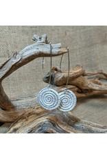 Soko Home Ice Blue Ziga Woven Earrings, Rwanda