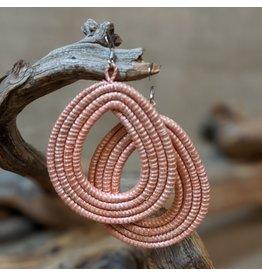 Soko Home Blush Loop Earrings, Rwanda