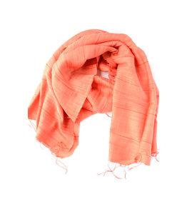 Fair Anita Hanh Blood Orange Cotton Silk Scarf, Vietnam
