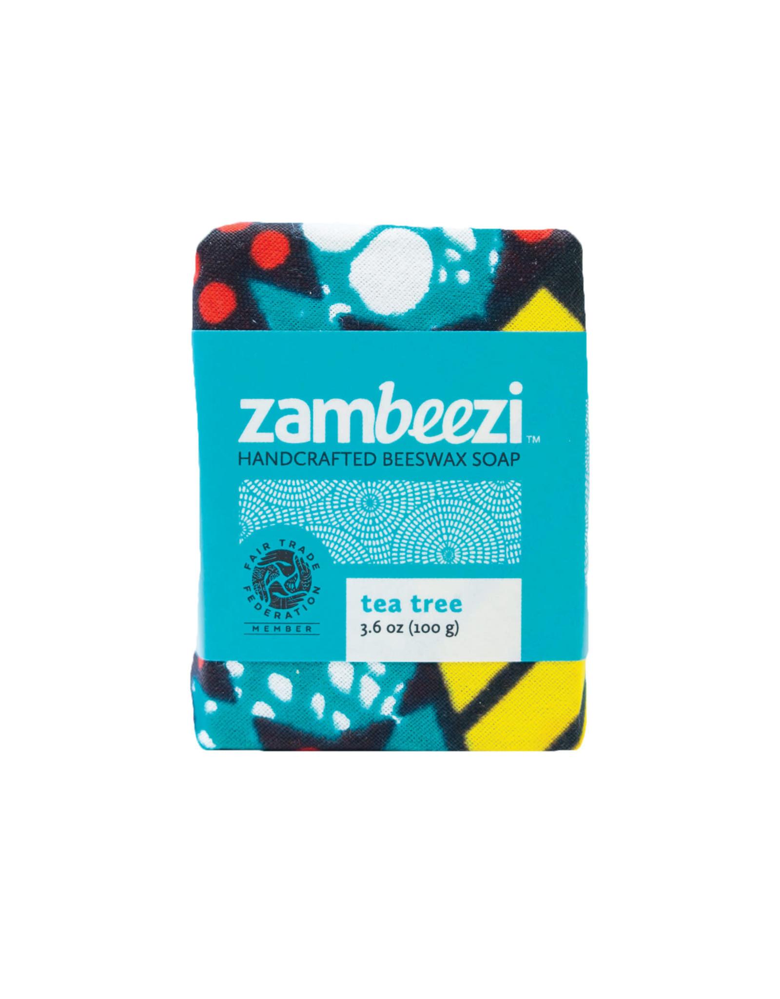 Zambeezi Tea Tree Beeswax Soap, 100g, Zambia