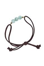 TTV USA Agate & Suede Friendship Bracelet, Colombia