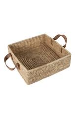 TTV USA Square Handled Date Palm Basket, Bangladesh