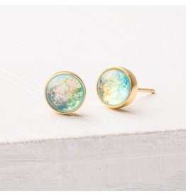 Starfish Project Lora Light Blue and Gold earrings, China
