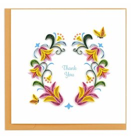 quillingcard Quilled Flower Wreath Thank You Card, Vietnam