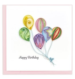 quillingcard Quilled Balloon Bunch Birthday Card, Vietnam