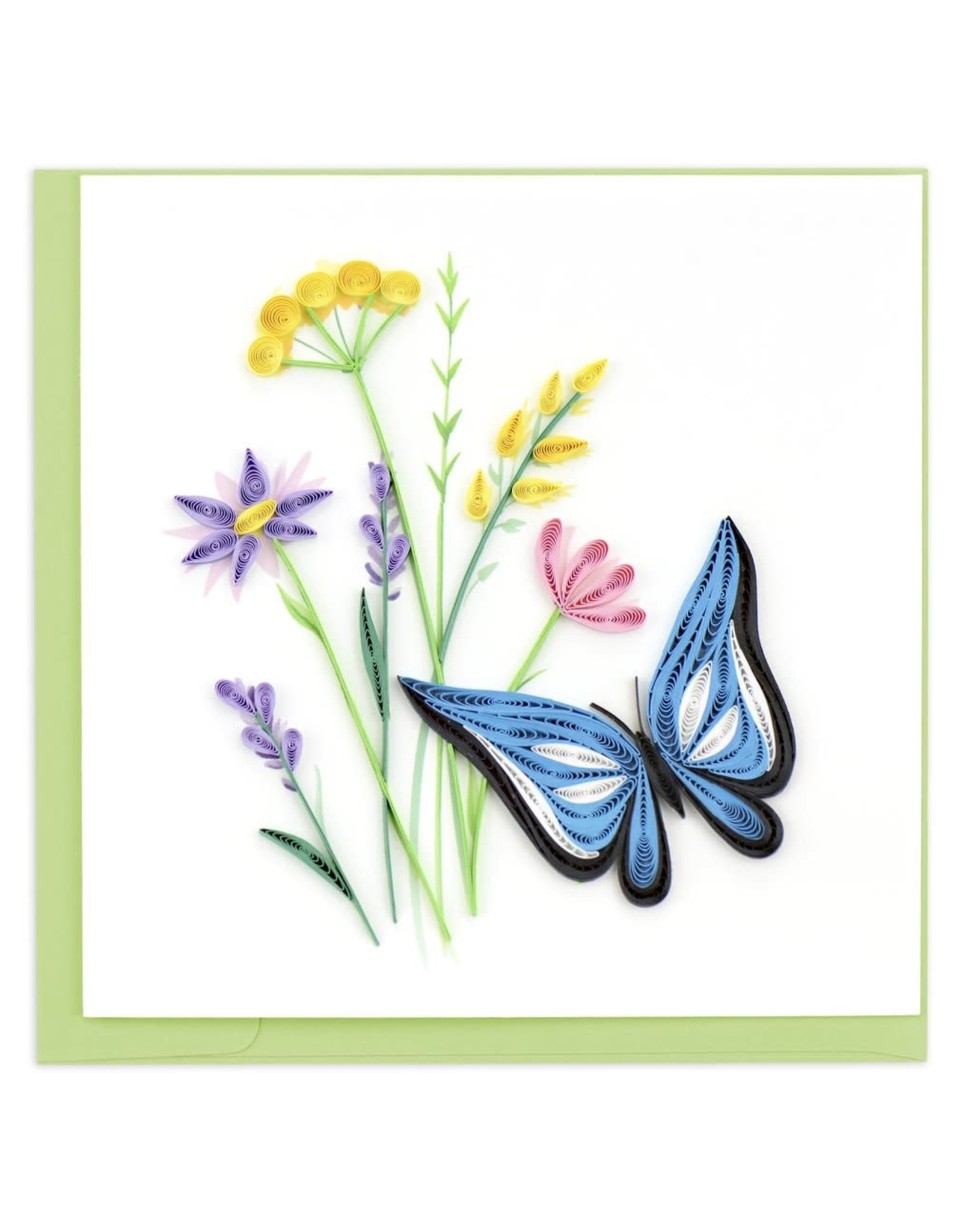 quillingcard Quilled Butterfly & Wildflowers Card, Vietnam