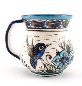 Lucia's Imports Wild Bird Coffee Mug, 15 oz / 450 ml, Guatemala
