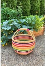 Swahili Wholesale Rainbow Connection Bolga Basket, Ghana