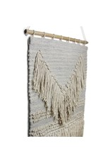 Global Crafts Handwoven Wall Hanging, Blue Grey. India