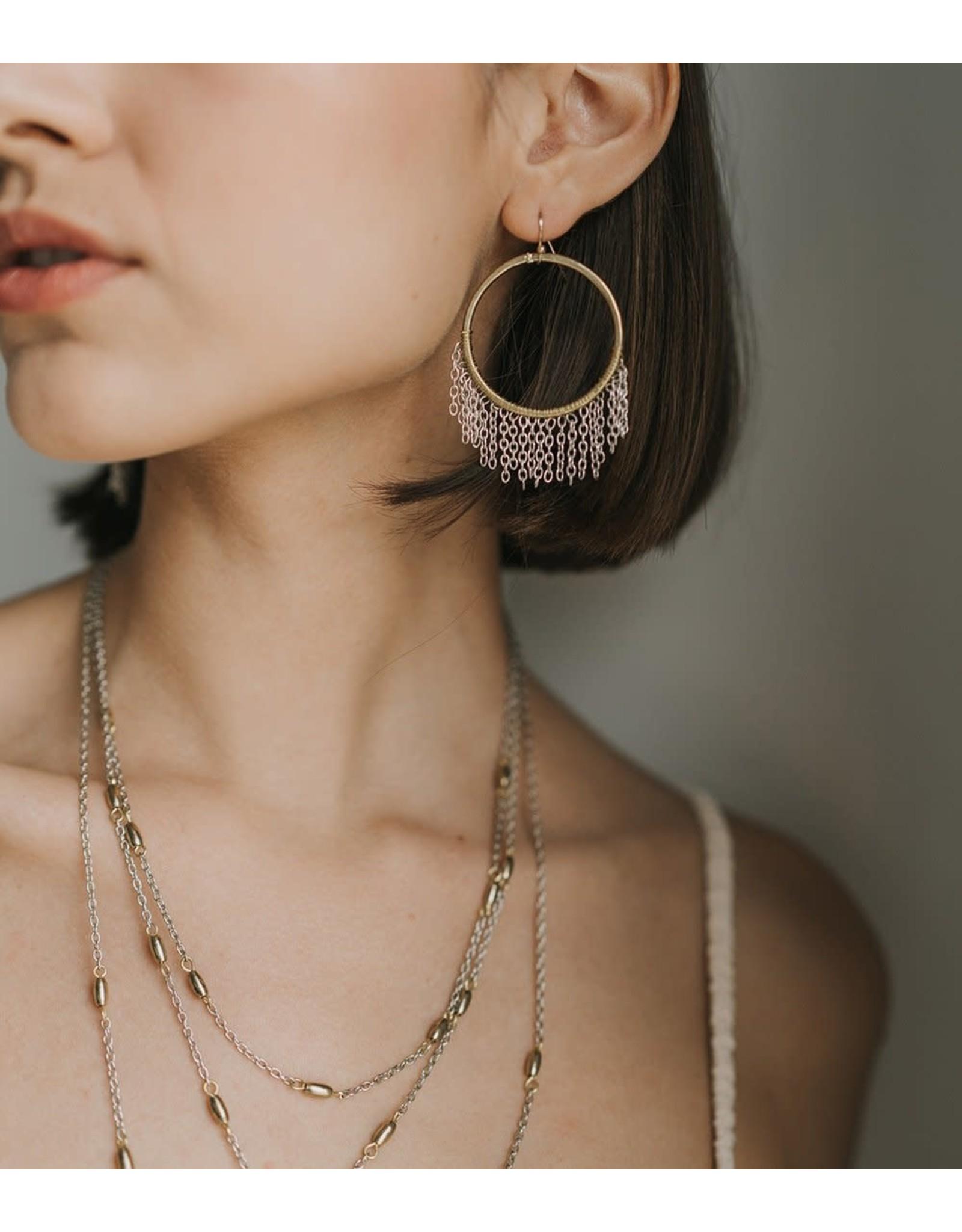 Matr Boomie Bhavani Fringe Hoop Earrings, India