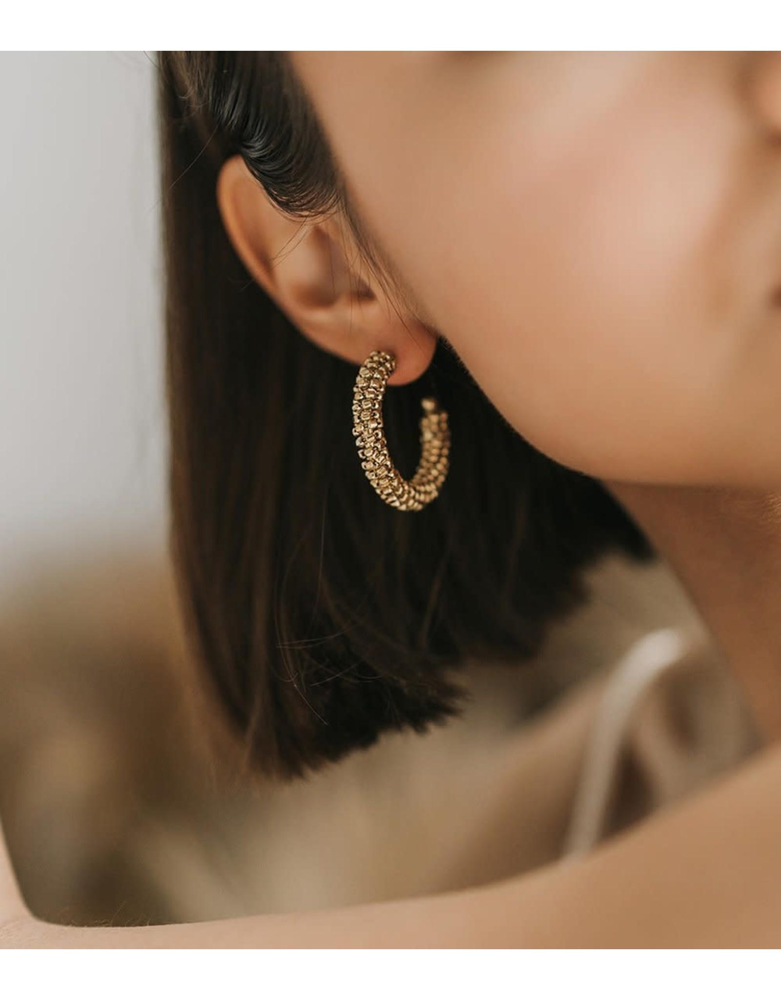 Matr Boomie Bhavani Stud Hoop Earrings, India