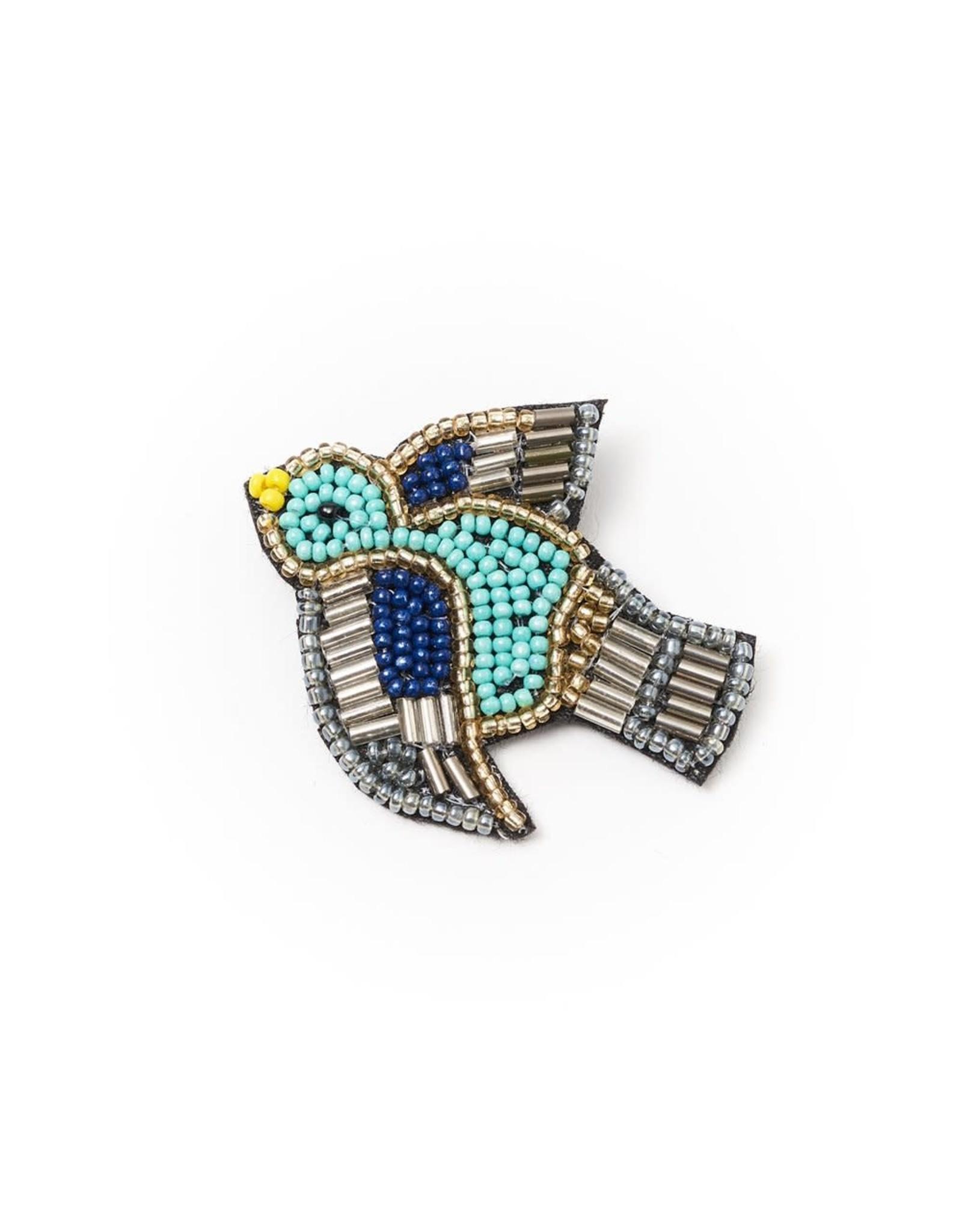 Matr Boomie Bala Mani Bird Brooch, India