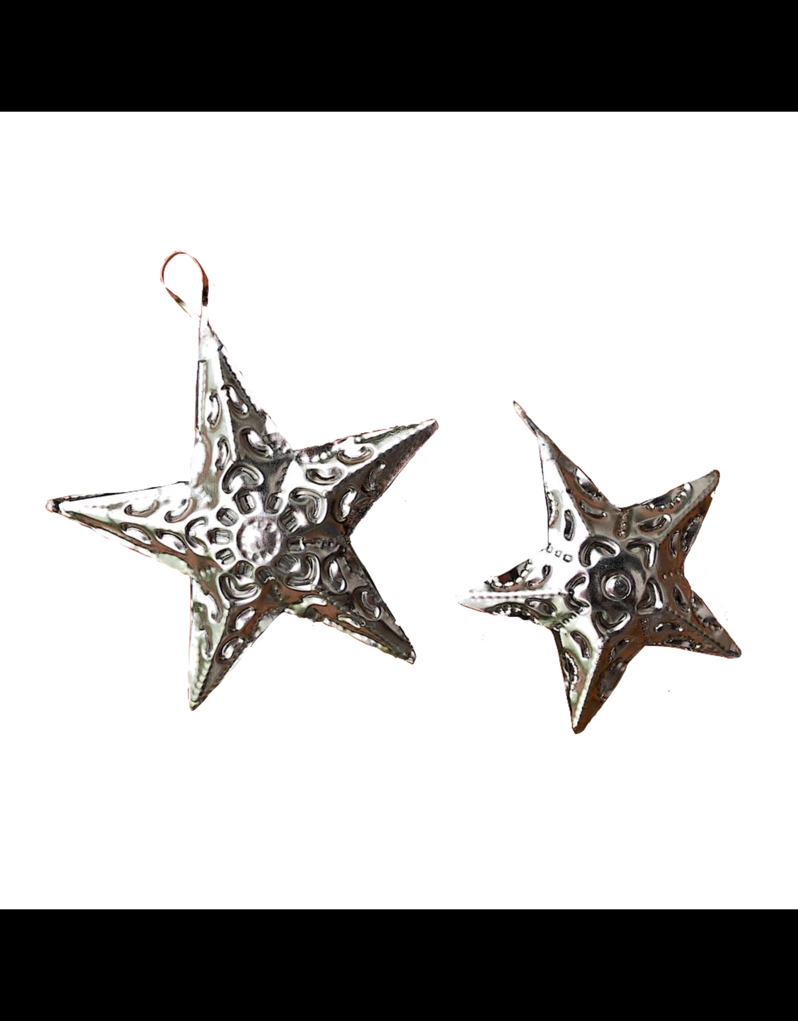 Abrazo Style 5 Point Tin Star, Mexico