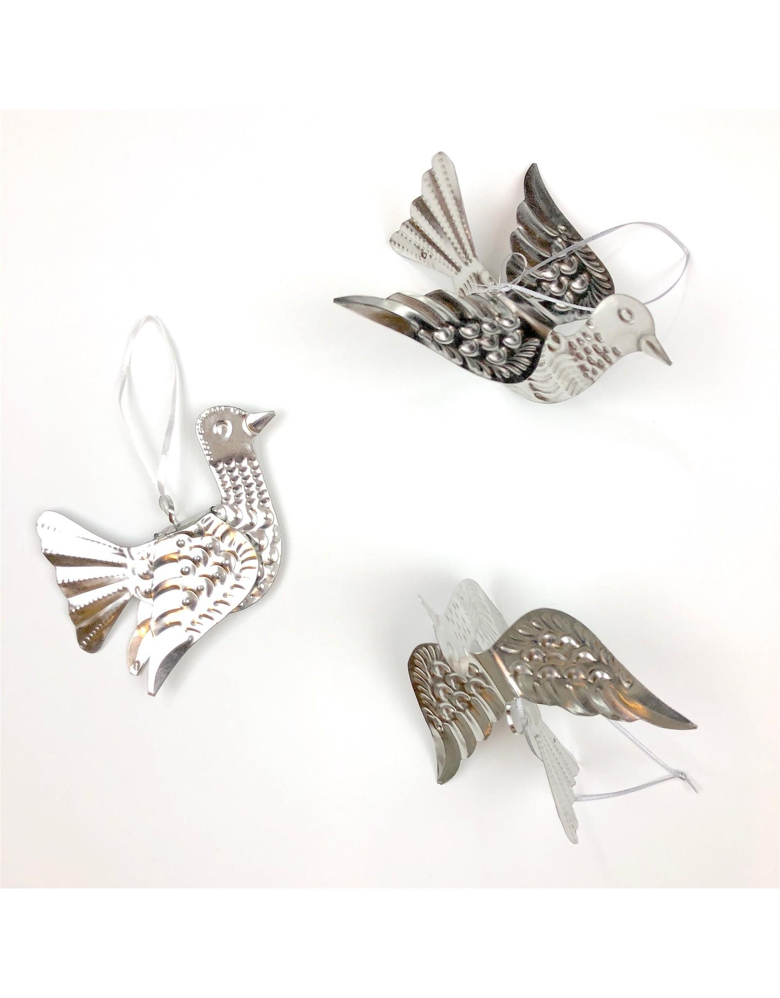 Abrazo Style Tin Bird Ornament, Mexico