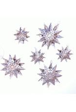 Abrazo Style Multi-Point Tin Star Ornament, Mexico