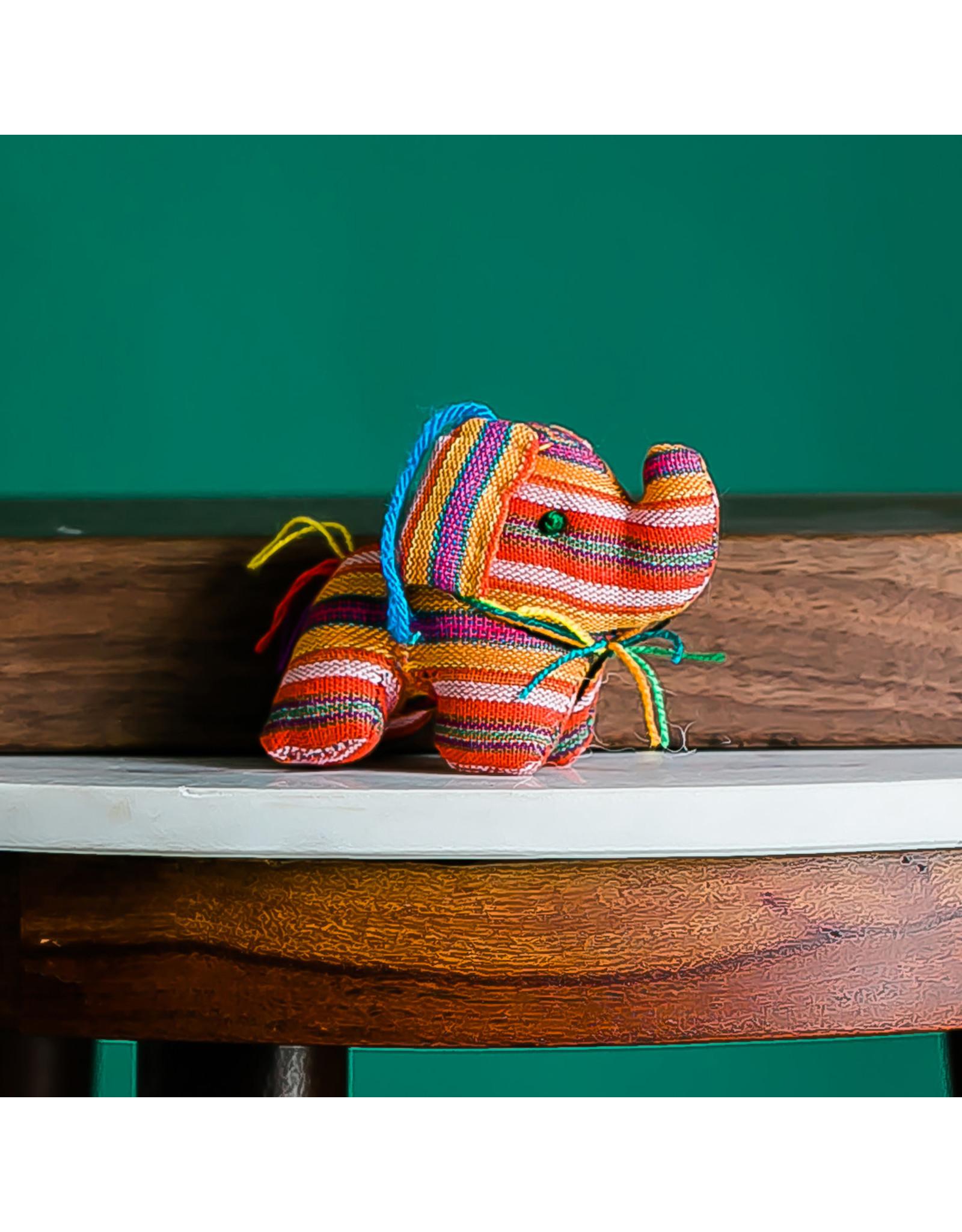 Lucia's Imports Stuffed Elephant Ornament, Guatemala