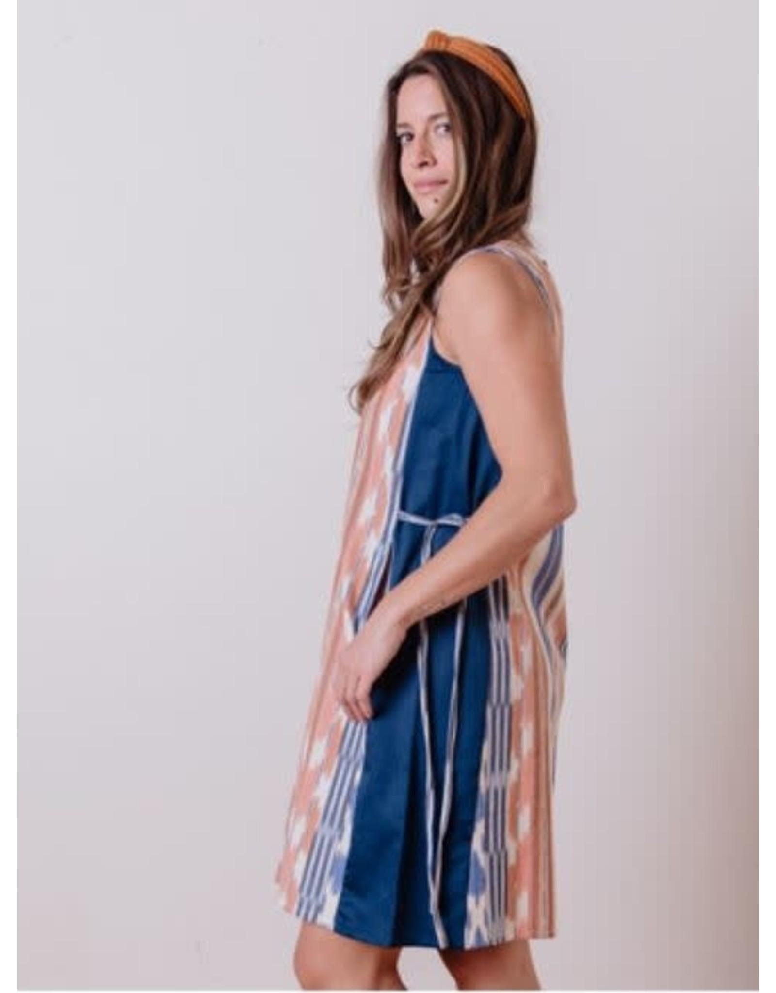 Dakota Dress, Rainbow Ikat.  India
