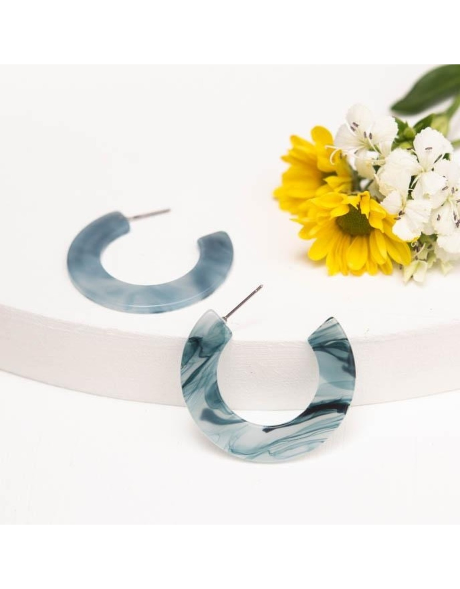 Starfish Project Daydream Resin Hoops, Tranquil Blue. China