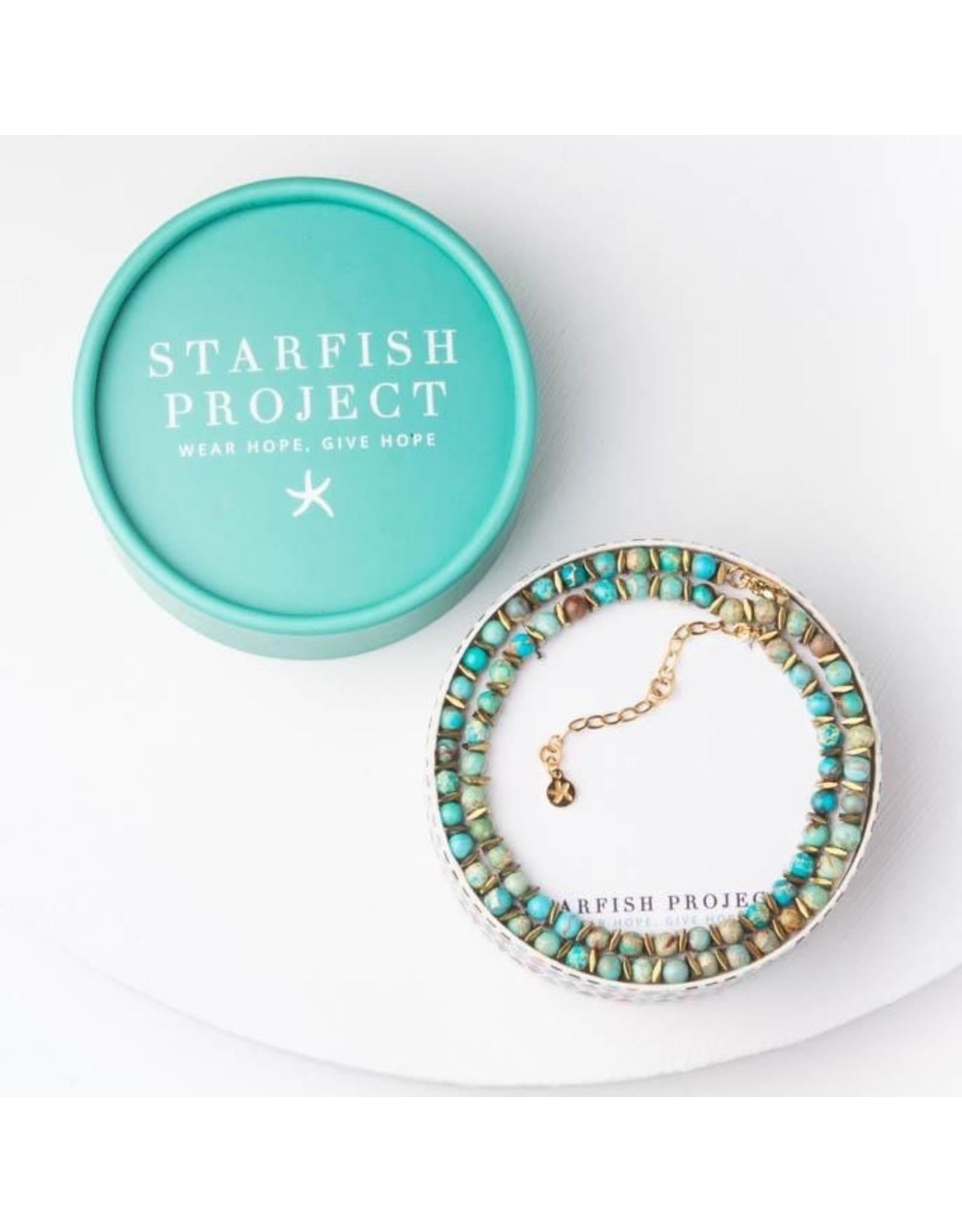 Starfish Project Joan Turquoise Beaded Choker. China