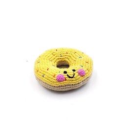 Pebble Friendly Doughnut Rattle, assorted.  Bangladesh