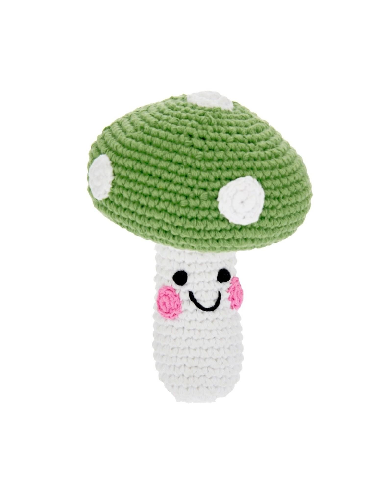 Pebble Friendly Green Mushroom Rattle. Bangladesh