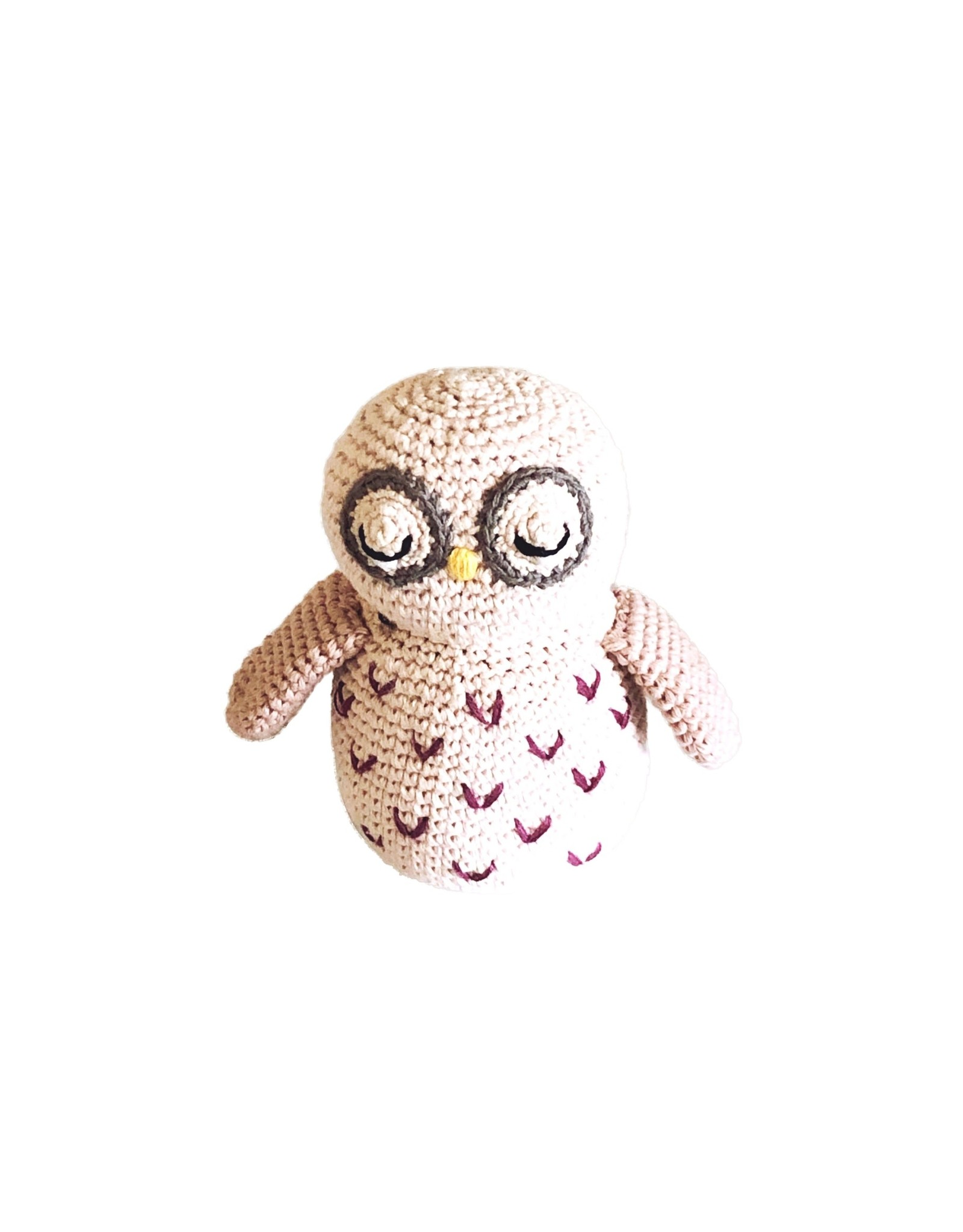 Pebble Organic Owl Rattle. Bangladesh