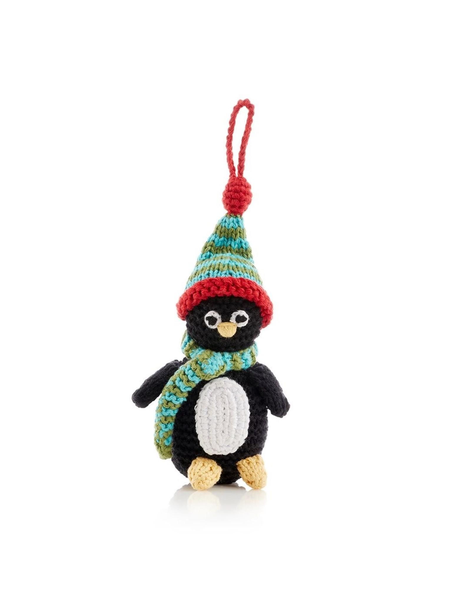 Pebble Penguin ornament. Bangladesh