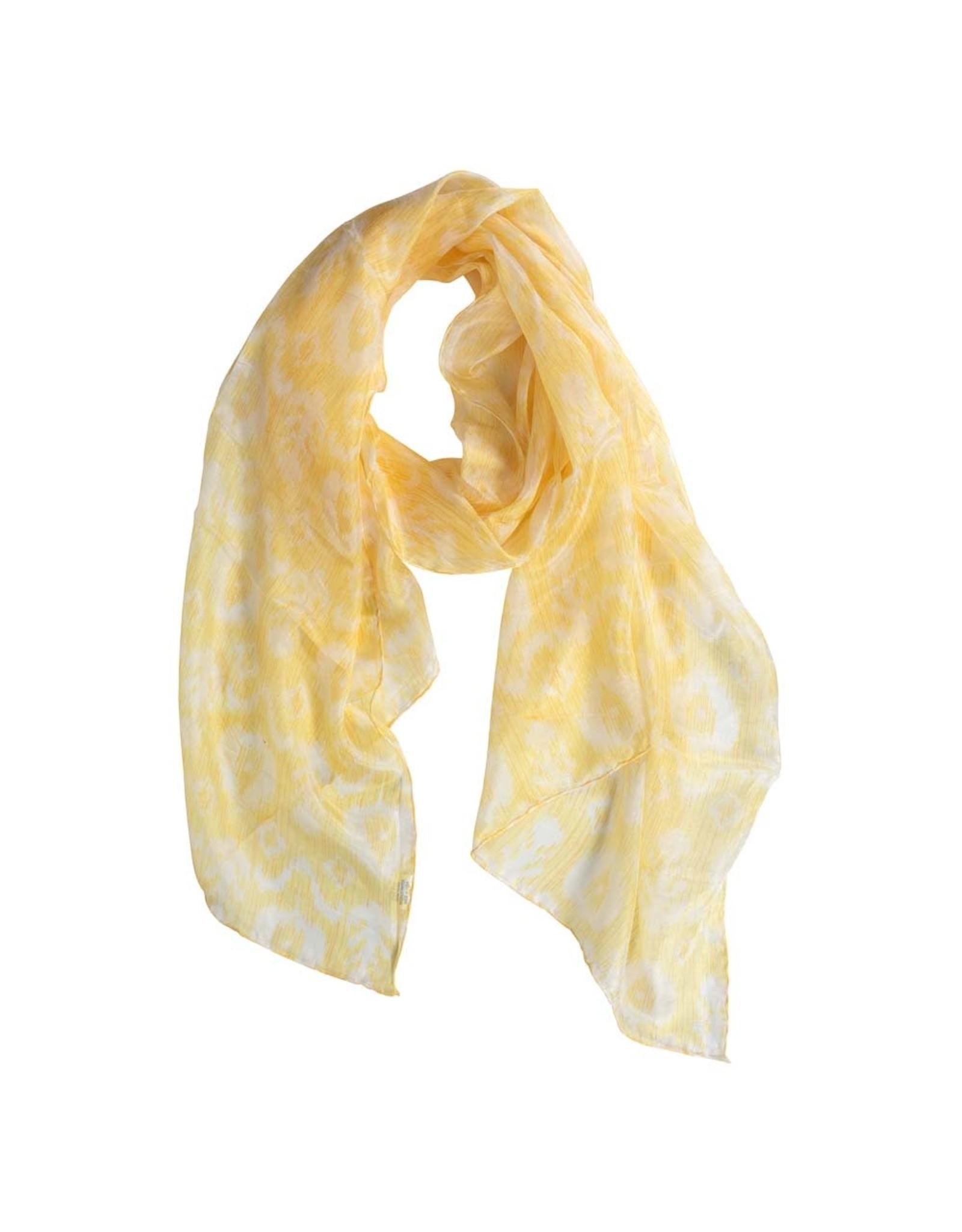 TTV USA Buttercup Silk Ikat Scarf, India.