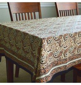 Fair Trade Winds Chai Paisley Block Print Tablecloth, India
